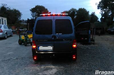 To Fit 1997 - 2008 Citroen Berlingo Steel Chrome Rear Roof Light Bar + LEDs