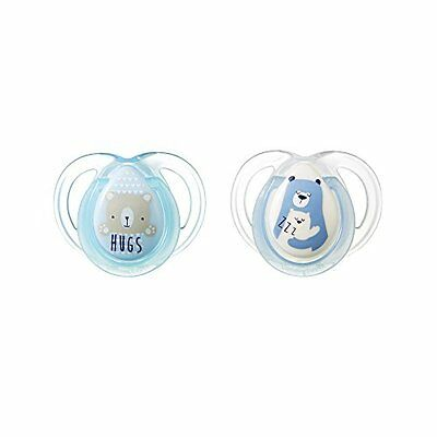Tommee Tippee Closer To Nature Night Pacifier, 0-6 Months, 2 Count (Colors May