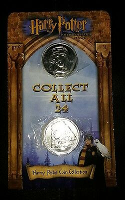 Harry Potter Coin 2x Coins on Original Card ASDA Gringotts Savings Bank Carded