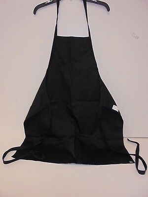 Chef Works - Black Basic Bib Apron, 33-Inch L by 27.5-Inch W - Used