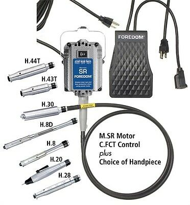 Foredom M.SR-FCT SR Hang-Up Motor, Plastic Speed Control, Choice of Handpiece