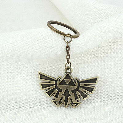 1* New Legend of Zelda Triforce Keychain Zelda Logo Key Chain / Keychain Bronze