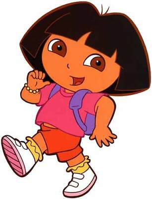 DORA The Explorer Large Window Cling Decal Sticker Kids TV Show -NEW