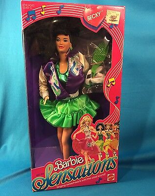 VINTAGE 1987 MATTEL BARBIE AND THE SENSATIONS Asian BECKY DOLL NRFB