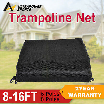 ULTRAPOWER 8/10/12/13/14/16FT 6/8 Pole Replacement Safety Net Trampoline Outdoor