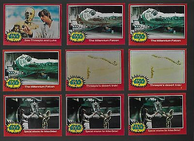 Topps Star Wars Trading Cards 1977 Set 2 Lot of 135