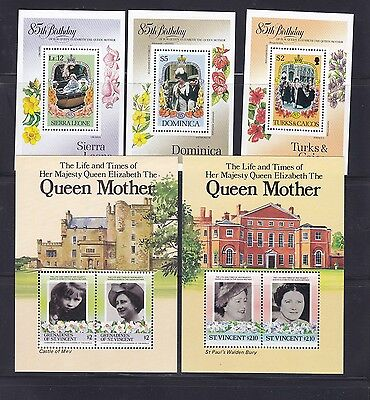 1985 Queen Mother Omnibus Selection MNH, Lot 6787