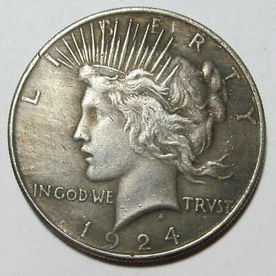 1924/1934 Two Face Peace Dollar Toned TFC006P