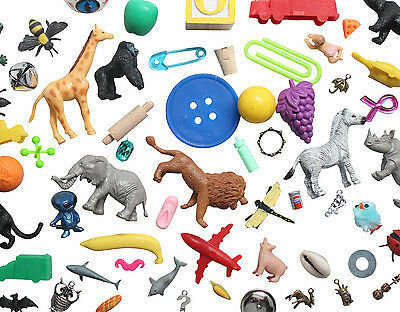 OBJECTS ONLY -Montessori Alphabet Objects Lot w/ Pink, Blue & Green Series Word
