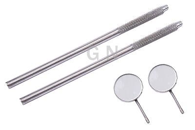 Dental Mirrors with Handles Excellent Quality Surgical Dental Instruments 2 Set