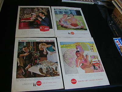 vintage lot of 12 coca-cola print ads 1948-1959 large ad