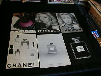vintage lot of 14 chanel print ads 1951-2013 ali mcgraw nice ad lot