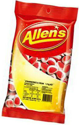 Allens Strawberries and Cream (1.3kg Bag)