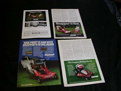 lot of 7 snapper lawn mower magazine print ads 1972-1983 NICE ad