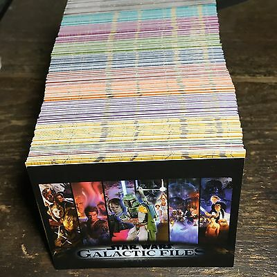 Star Wars Galactic Files Series 2 Blue Base Parallel Lot Of 221 All Different