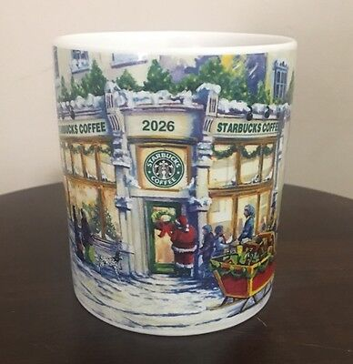 Starbucks 2001 Collectible Series Barista Christmas Mug