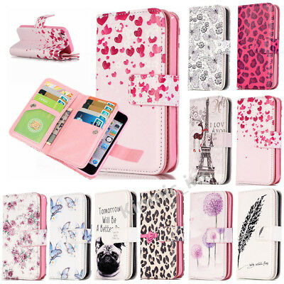 Magnetic Flip Leather Wallet 9 Card Slots Case Stand Cover For iPhone 6s 7 Plus