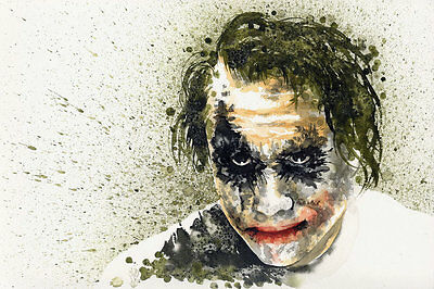 Modern Home Deco HD Print art Oil Painting On Canvas Abstract the joker 8x12inch