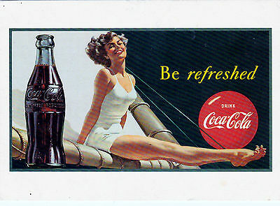 Coca Cola Postcard 1997 reproduction Be refreshed