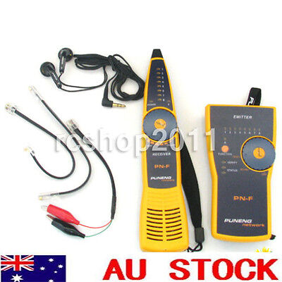 PN-F Wire Tracker Toner and Probe Network Cable Tester Fluke Style RJ11 RJ45 AU