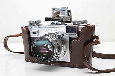 CONTAX IIa CLA'd w/ Carl Zeiss T* Sonnar 1.5/50 Lens, Case, Finder & Accesories