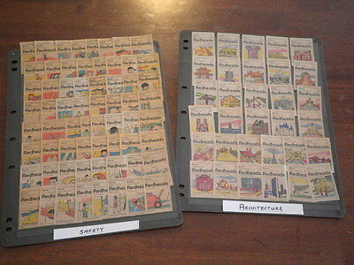 Matchbox Match Box Labels, Redheads, 2 Complete Sets, Architecture, Safety