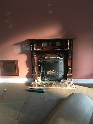Antique fireplace mantel. Edwardian. Made from Huon Pine.