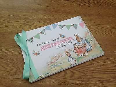 Peter Rabbit Personalised Guest Book Birthday Christening Boy Girl Naming Day 36