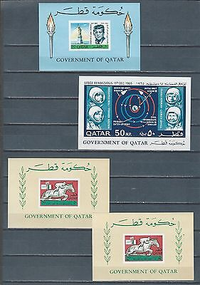 Middle East Qatar imperf mnh stamp sheets SPACE KENNEDY SPORTS w revalued