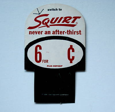 SQUIRT 1956 Cardboard Price Insert Advertising Card Sign FREE Shipping