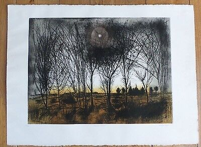 Walter Hoyle Signed Limited Edition Print Winter Trees Landscape Great Bardfield
