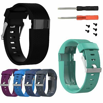 S/L Silicone Wrist Band Sports Strap for Fitbit Charge HR Activity Watch Tracker