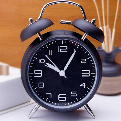 """Compact 4"""" Twin Bell Alarm Clock W/ Stereoscopic Dial Loud Alarm Clock Household"""