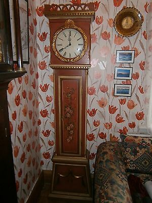 8   Day  Painted French Grandfather Clock .