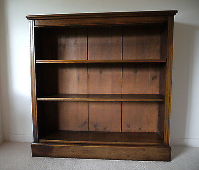 Antique Late Victorian Mahogany Open Bookcase