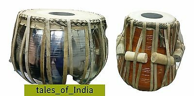 Brand New Tabla ~ Drum Set ~ Copper Bayan ~ Finest Dayan with Hammer Cover Bag