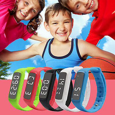 Children Fitbit Style Activity Tracker Kids Pedometer Step Counter Fitness Band#