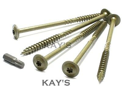 Wafer Torx Head Landscape Screws Sleeper Decking Fixing.timberfix,Timberlok Type
