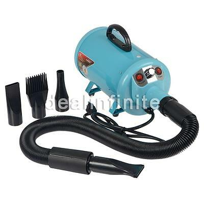 2800W Adjustable Pet Blower Grooming Dryer Dog Cat Hair Hairdryer 4 Nozzle