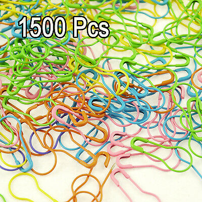 1500Pcs Tone Gourd Bulb Pear-shaped Color safety pins for hanging tags TO309