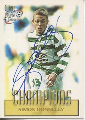 Celtic signed  trade card - Simon Donnelly