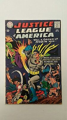 Justice League of America #55 (Aug 1967, DC), Robin, G/VG