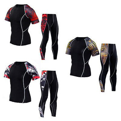 Gbx-uk Mens Compression Armour Base Layer Top Skin Fit+compression Leggings Set Clothing, Shoes & Accessories Men's Clothing