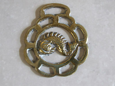 Wonderful Antique Brass Classic Fish Round Ornate Trivet/Pot Stand Collectable