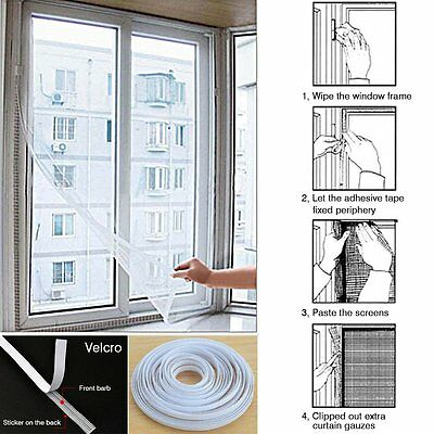 Window Insect Protection Screen Shield Mesh Curtain Fly Pest Mosquito Blinds