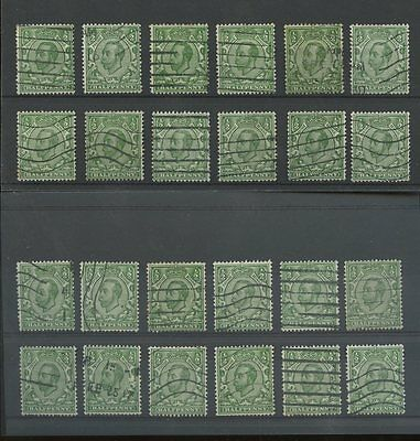 GB KG5 DOWNEY HEADS MULTIPLE CYPHER WMK SG346-348 GOOD USED 24 stamps cv £192 L2