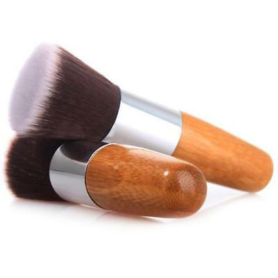 Bamboo Makeup Flat Top Kabuki Brush Multipurpose Powder Buffing Foundation Brush