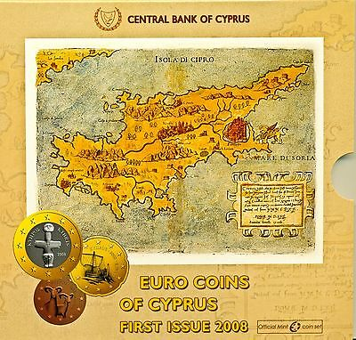 2008 - First Issue - Euro Coins of Cyprus