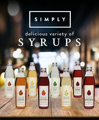 (13,96€/L) Simply Luxury Natural Sirup 1x250 ml Flasche, Kaffeesirup, Flavor, UK