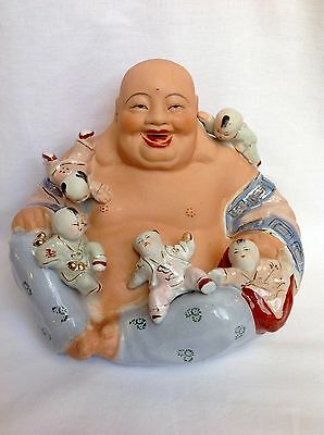 Grande Buddha In Porcellana Cinese - Chinese Porcelain Buddha